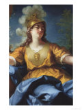 Portrait of a Woman as Minerva, 1730 Giclee Print by Jean Raoux