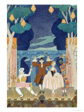 "Pantomime Stage, Illustration for ""Fetes Galantes"" by Paul Verlaine 1924 Giclee Print by Georges Barbier"