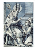 St. Blaise Curing a Sick Child Giclee Print by Jacques Stella