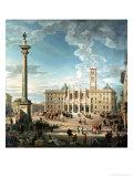 The Piazza Santa Maria Maggiore, 1752 Giclee Print by Giovanni Paolo Pannini