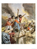 "The Royal Princesses Preaching the Holy War in Madagascar, from ""Le Petit Journal"" Giclee Print by Oswaldo Tofani"
