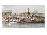 The Inauguration of the Suez Canal by the Empress Eugenie 17th November 1869 Giclee Print by Édouard Riou