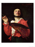 Self Portrait Giclee Print by Charles Louis Lucien Muller