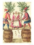 Two Venetian Magicians Sawing a Woman in Half Reproduction proc&#233;d&#233; gicl&#233;e par Jan van Grevenbroeck