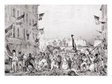 Barricade at the Rue Dauphine, 29th July 1830 Giclee Print by Victor Jean Adam