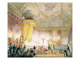 The Chapel of Rest of Louis XVIII at the Tuileries Giclee Print by Jean-Baptiste Isabey