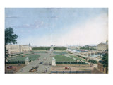 View of the Place Louis XV and the Jardin des Tuileries, 1815-30 Giclee Print by Henri Courvoisier-Voisin