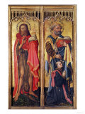 St. John the Baptist and St. Peter, from the Altarpiece of Pierre Rup, circa 1450 Giclee Print