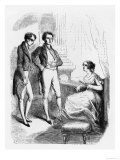 """Rastignac Introduced to Madame de Nucingen, Illustration from """"Le Pere Goriot"""" by Honore de Balzac Giclee Print by  Laisne"""