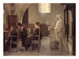The Eve of the First Communion, Before 1890 Giclee Print by Henri Alphonse Louis Laurent-desrousseaux