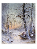 Winter Breakfast Giclee Print by Joseph Farquharson