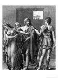 Phaedra, Theseus and Hippolytus, Illustration from Act III Scene 5 of 