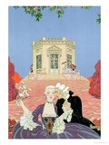 """The Indolents, Illustration for """"Fetes Galantes"""" by Paul Verlaine 1928 Giclee Print by Georges Barbier"""