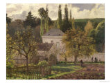 House in the Hermitage, Pontoise, 1873 Giclee Print by Camille Pissarro