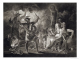 Macbeth, the Three Witches and Hecate in Act IV, Scene I of &quot;Macbeth&quot; by Shakespeare Published 1805 Giclee Print by John &amp; Josiah Boydell