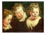 Three Childrens Heads, circa 1618 Giclee Print by Jacob Jordaens