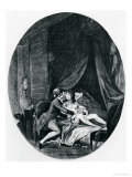 Valmont and Emilie, Illustration from &quot;Les Liaisons Dangereuses&quot; by Pierre Choderlos de Laclos 1782 Giclee Print by Niclas II Lafrensen