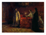 Tsar Boris Godunov and Tsarina Martha, 1874 Giclee Print by Nikolai Nikolajevitch Gay