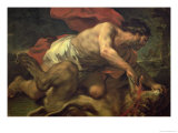 Samson and the Lion Giclee Print by Luca Giordano