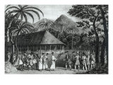 Captain Samuel Wallis Being Received by Queen Oberea on the Island of Tahiti Giclee Print by John Webber