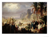 The Entry of Christ into Jerusalem Premium Giclee Print by Louis Felix Leullier