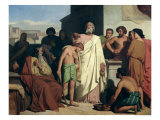 Annointing of David by Saul, 1842 Giclee Print by Felix-Joseph Barrias