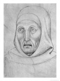 Head of a Monk Giclee Print by Antonio Pisani Pisanello