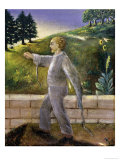 Mental Patient Going for an Early Morning Walk Giclee Print by Dr. Max Simon