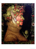 Summer, 1573 Lmina gicle por Giuseppe Arcimboldo