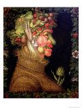 Summer, 1573 Lámina giclée por Giuseppe Arcimboldo