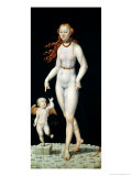 Venus and Cupid Giclee Print by Lucas Cranach the Younger