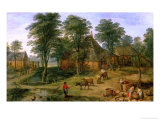 The Farmyard Giclee Print by Jan Brueghel the Younger