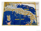Ptolemaic Map of Italy, 1482 Giclee Print by Nicolaus Germanus