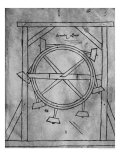 Supposedely Perpetual Motion Mallets and Wheel Giclée-Druck von Villard de Honnecourt