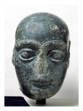 Head of a Man, Known as Gudea with a Shaved Head, from Telloh Neo-Sumerian, circa 2120 BC Giclee Print by  Mesopotamian
