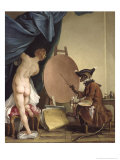 The Monkey Painter Giclee Print by Jean Baptiste Deshays De Colleville