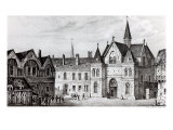 The Sorbonne in 1550 Giclee Print by Francois Alexandre Pernot