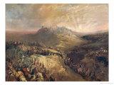 The Crusaders Before Jerusalem Giclée-Druck von Eugenio Lucas Velazquez