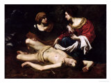 St. Sebastian Tended by St. Irene Giclee Print by Nicolas Regnier