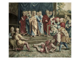 The Death of Ananias, from a Series Depicting the Acts of the Apostles Reproduction proc&#233;d&#233; gicl&#233;e par Raphael 