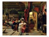 Sir Anthony Van Dyck in London, 1837 Premium Giclee Print by Camille-joseph-etienne Roqueplan