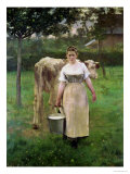 Manda Lametrie, the Farm Maid, 1887 Premium Giclee Print by Alfred Roll