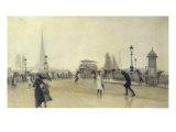 The Pont Corneille, Rouen, 1891 Giclee Print by Leon Lemaitre