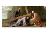 Christ Carrying the Cross, circa 1651 Reproduction procédé giclée par Eustache Le Sueur