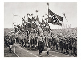 A Hitler Youth Rally on National Socialist Party Day in the Nuremberg Ring, 1933 Giclee Print by  German photographer