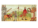 Meeting of Hernando Cortes and Montezuma Giclee Print by Diego Duran