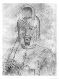 Soldier Wearing a Visored Helmet Giclée-tryk af Antonio Pisani Pisanello