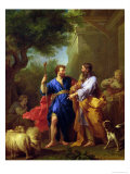 Jacob and Laban, Before 1737 Giclee Print by Jean Restout II