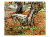 The Bench at Saint-Remy, c.1889 Gicledruk van Vincent van Gogh