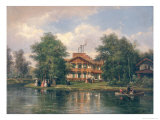 The Chalet with the Yellow Door in the Bois de Vincennes, circa 1862 Giclee Print by Pierre Justin Ouvrie